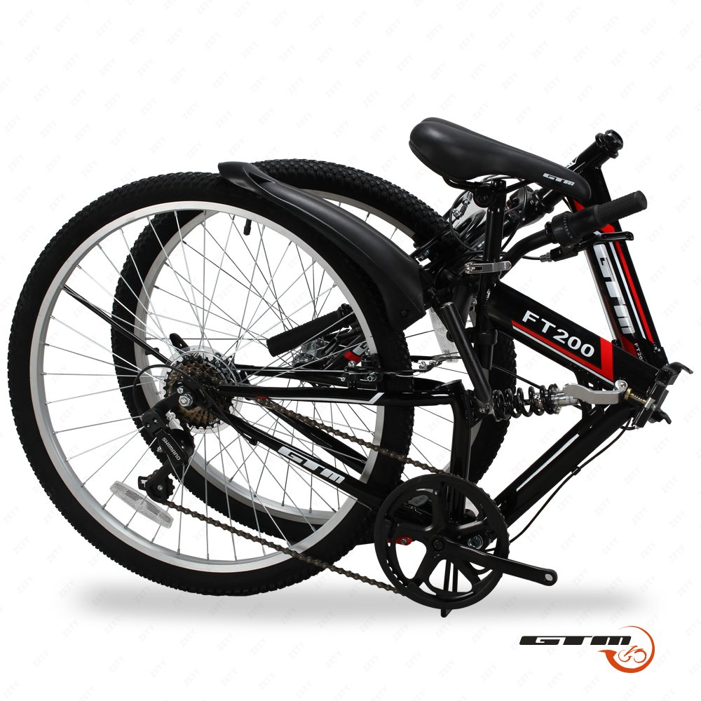 Gtm 26 7 Speed Folding Mountain Bike Review Best Reviews Parts Diagram Picture Performance